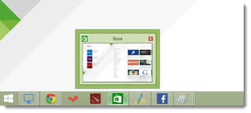 Windows 8.1 Update- Metro apps on taskbar