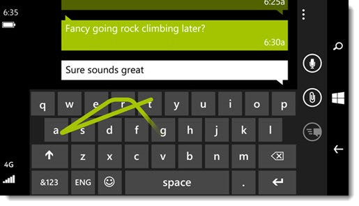 Windows Phone 8.1 - Word Flow keyboard
