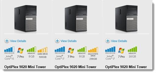 Dell Optiplex - sold with Windows 7