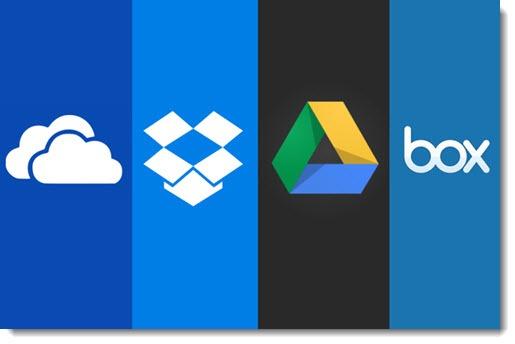 Dropbox, OneDrive, Google Drive, Box
