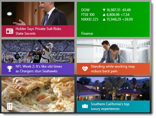 Bing apps - live tiles