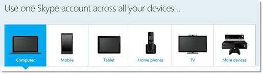 Use one Skype account across all your devices
