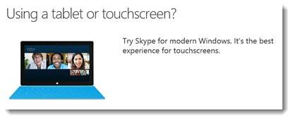 Skype for modern Windows - the Windows 8 Metro app