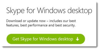 Skype for Windows desktop - the traditional version