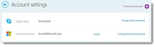 Skype - link Skype name and Microsoft account