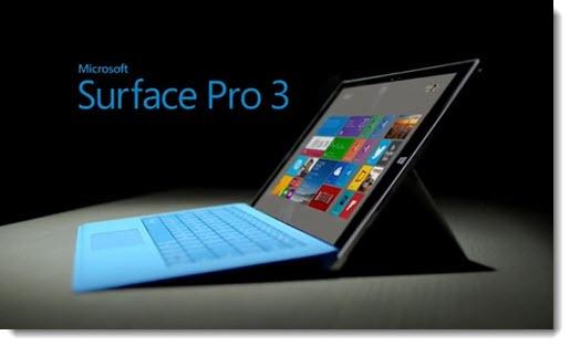 Microsoft Surface Pro 3 firmware update