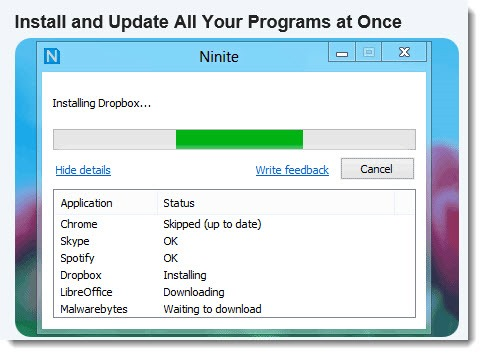 Ninite - fast, easy & painless program installs