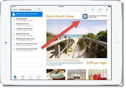 Open Office documents from Dropbox mobile app