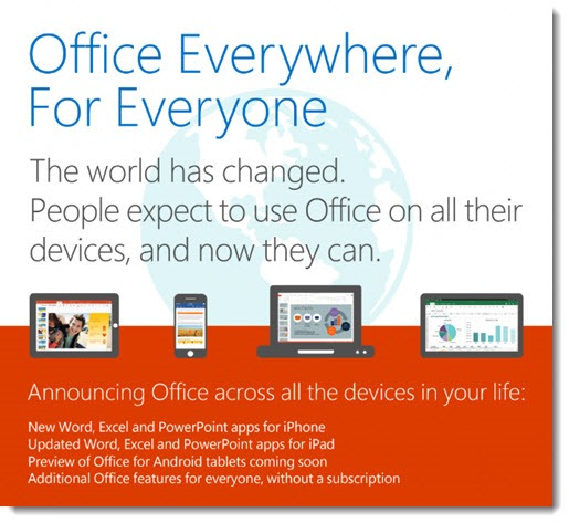 Office everywhere for everyone on every device