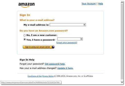 Amazon scam website