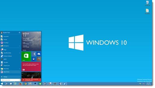 Windows 10 - the return of the Start menu