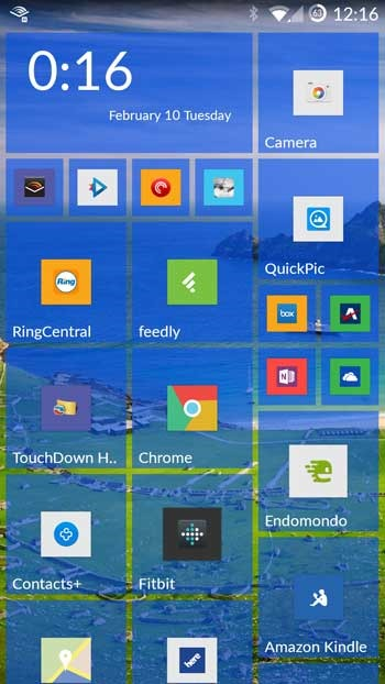 Android - OnePlus One with a Windows phone theme