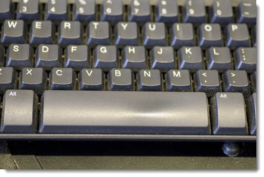 Use the space bar to scroll up and down web pages