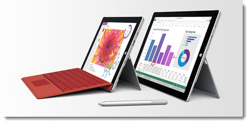 Microsoft Surface 3 compared to Surface Pro 3