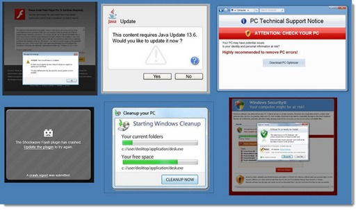 Adware examples that will be blocked by Internet Explorer Smartscreen Filter
