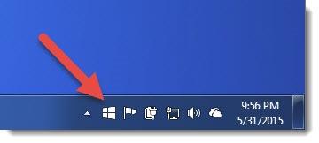 Windows 10 upgrade notification - taskbar icon