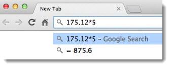 Google Chrome Omnibox - math calculations