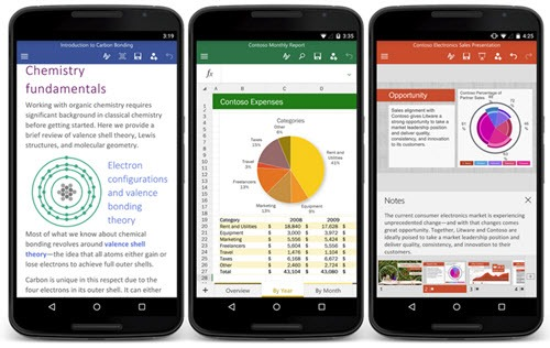 Office for Android phones - Word, Excel & Powerpoint apps released