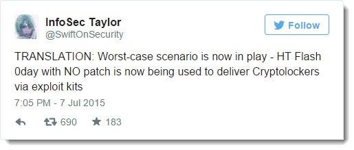 Adobe Flash hack - zero day delivering Cryptolocker