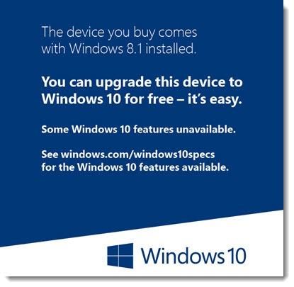 Windows 10 - upgrade sticker from Windows 8.1