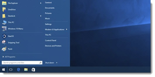 Start10 from Stardock Software - replace the Windows 10 Start menu