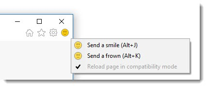 Windows 10 - Internet Explorer send a smile