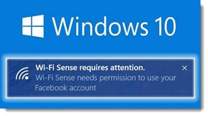 Windows 10 - Wi-Fi Sense