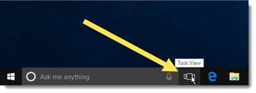 Windows 10 Task View - taskbar icon