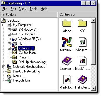 Windows 95 File Explorer