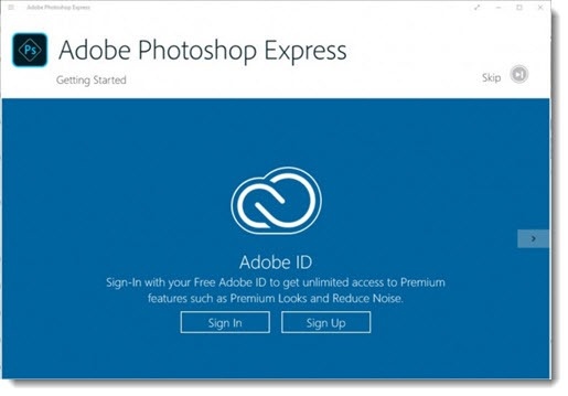 Adobe Photoshop Express - Windows 10