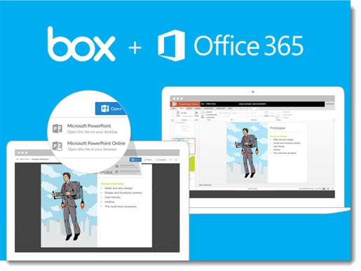 Seamless integration between Box and Office 365