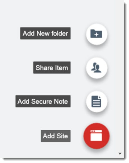 LastPass - add Secure Note