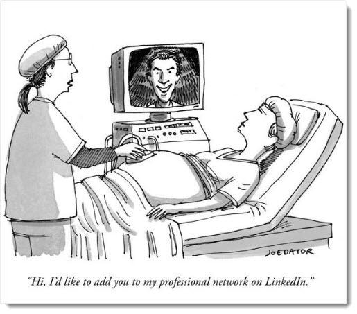 LinkedIn - the universal cartoon caption