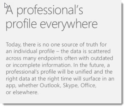 LinkedIn profile will connect to Office 365