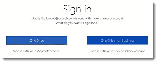OneDrive - personal vs work login