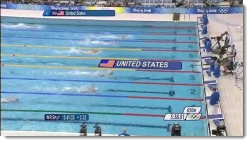 Augmented reality - Olympics swimming