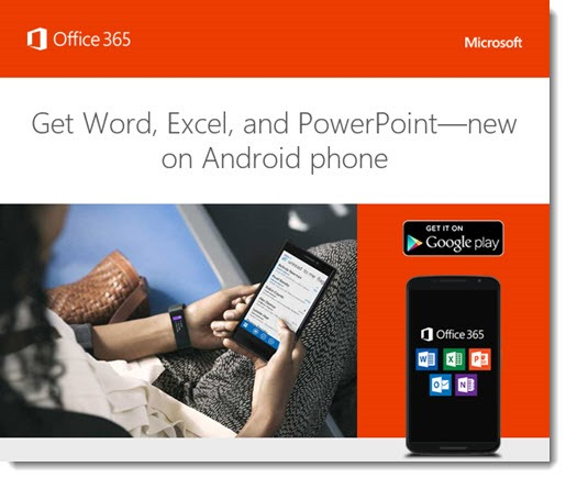 Office programs on Android