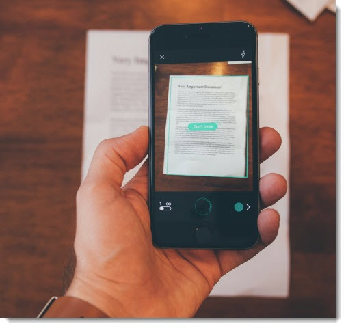 Scan documents and create PDFs with your phone