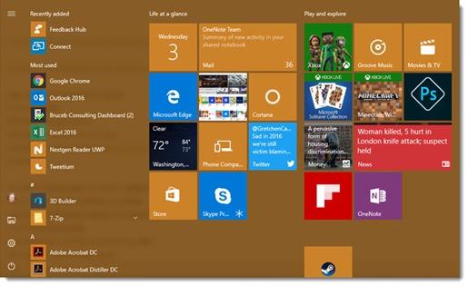 Windows 10 Anniversary update - changed Start menu