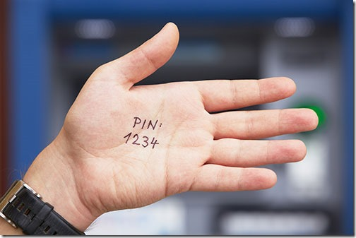 Windows 10 PIN - do not use 1234!