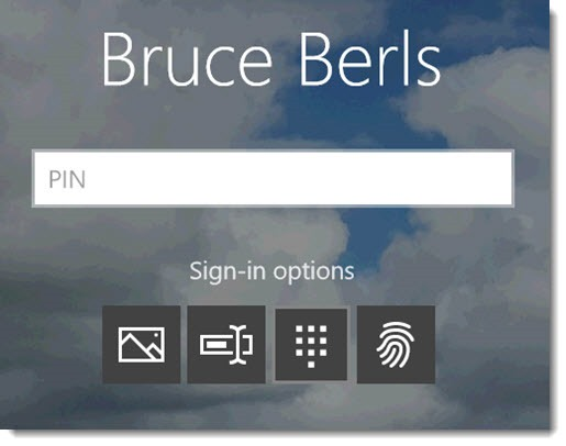 Windows 10 - sign-in options