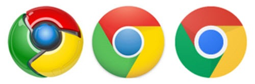 Chrome logo - from 3D to flat