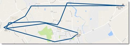 Google My Activity - location history example