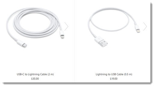 Apple Lightning cables