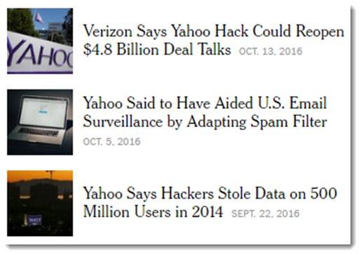 Yahoo - hack, surveillance
