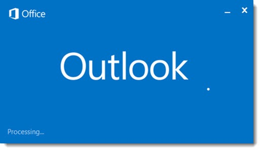 "Outlook ""processing"""