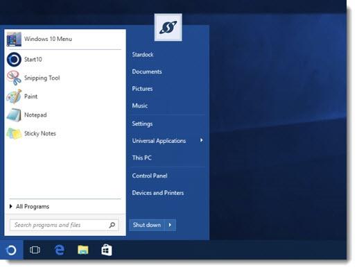 Start 10 - replacement start menu for Windows 10