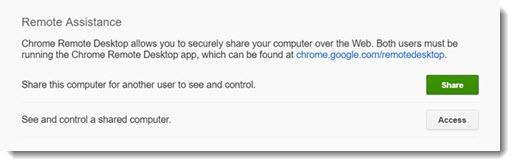Chrome Remote Desktop - remote assistance