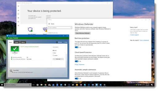 Three different things named Windows Defender