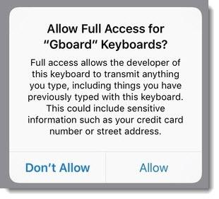 Google Gboard privacy notice
